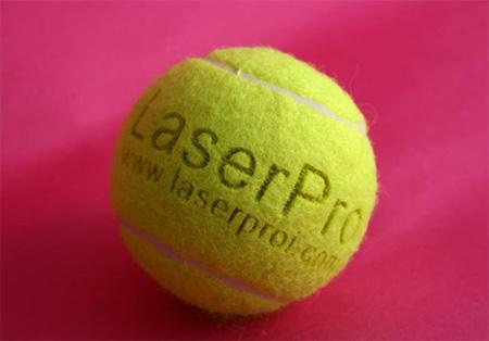 Laser Engraving on Tennis
