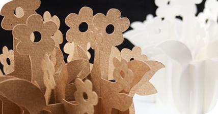 3D paper flower pots by GCC Scrapbook Cutter