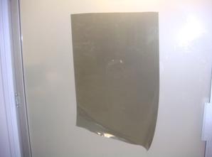 Cut film pattern off of the cutting machine